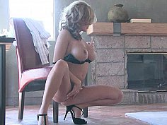 Brea posing and masturbating on camera