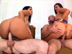 Diamond Kitty and Nikki Lavay having fuck with Brick and Mirko