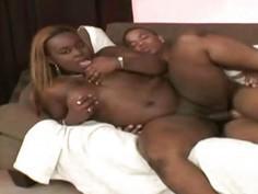 Queen B  Curvatious Ebony Explored By A Fat Cock