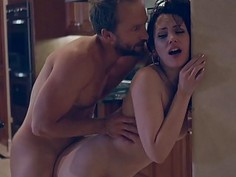 Sarah Shevon deepthroats dick and railed