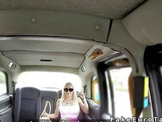 Huge tits blonde tourist bangs in fake taxi