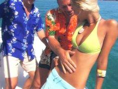 Slutty blonde Boroka Balls fucks in a threesome