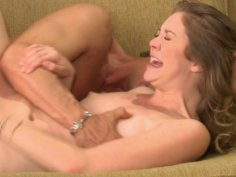 Palatable blonde chick Jessie Andrews blows and fucks from behind