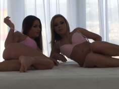 Colette W and her lesbian girlfriend. Behin the scene video