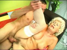 Grey-haired mom Francesca gets fucked from behind