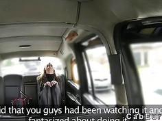 British amateur deep throats in fake taxi