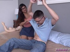 Gives first blowjob time Mia Khalifa popped a aficionados cherry