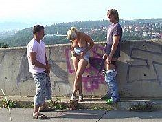 Scenic view MMF threesome
