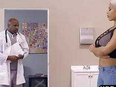Latina MILF Bridgette B ass fucked by a black doctor