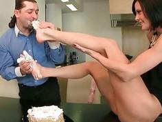 Liz Valery enjoying nasty footsex