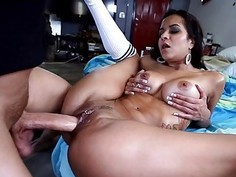 Beauty is riding on white studs weenie