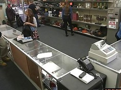 College girl pawns her books and drilled in the backroom