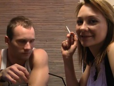 Norma in public toilet fuck scene featuring a beautiful gal