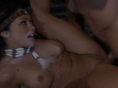 Cherokee gets her pussy fucked near the fire