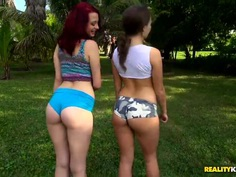 Natural titted babes Lily Love & Jessica Robbin