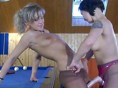 Nora&Mima nasty pantyhose action
