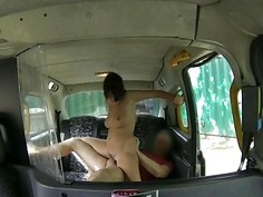 Passenger in glasses fucked and facialed