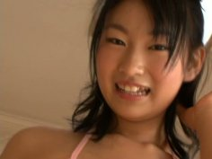 Two sweet japanese chicks Kira Nanami and her friend are making photos of each other