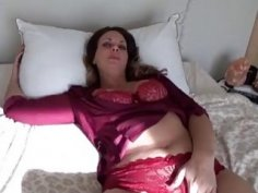 Drunk blonde Milf strips and wants to be fucked now