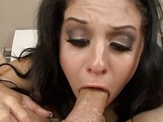 Sexy chick is in love with dudes massive redwood