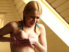 Fresh-faced teen whipped by her master