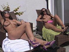 Sunbathing lesbians