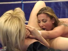 Neighborhood girlfriends Aleska Diamond and Celine Doll want to dominate at the ring