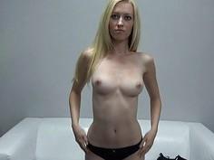 Blonde Chaste Hottie Fascinated by Cameramans Cock