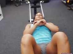 Excersise Girls Shows What Shes Got In The Pawnshop