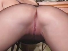 Oriental playgirl spreads tighs wide to show gash